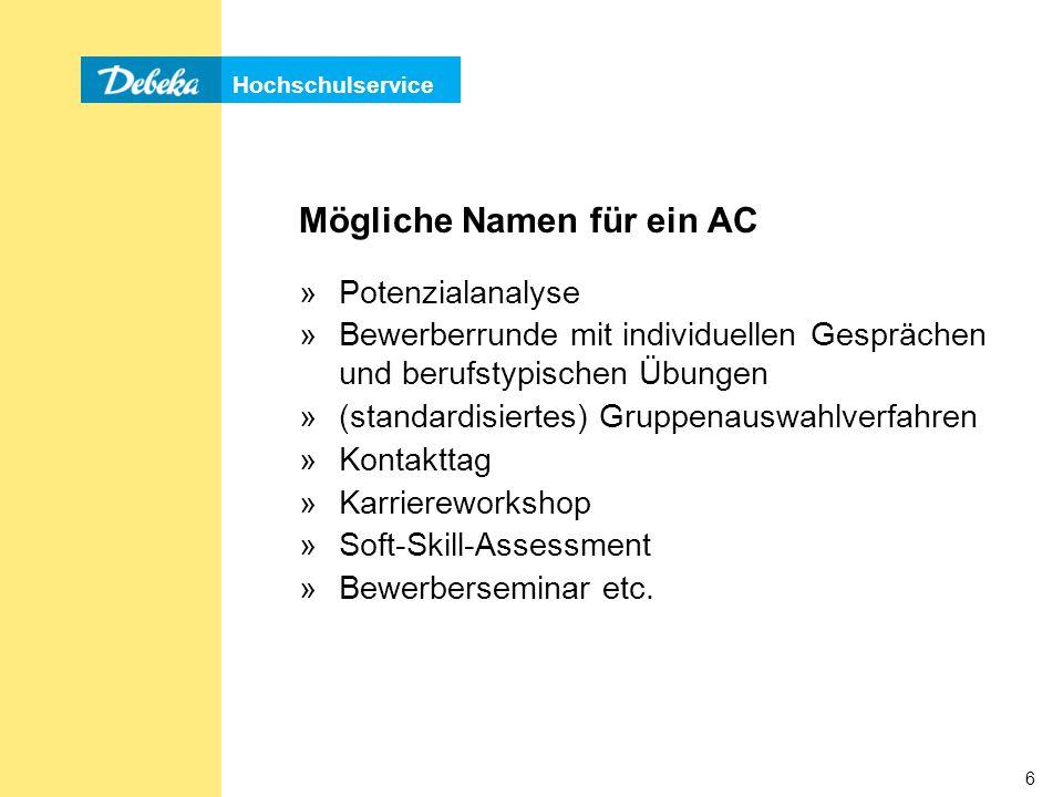Hochschulservice 37 Leistungs-/Konzentrationstests, Beispiel 1