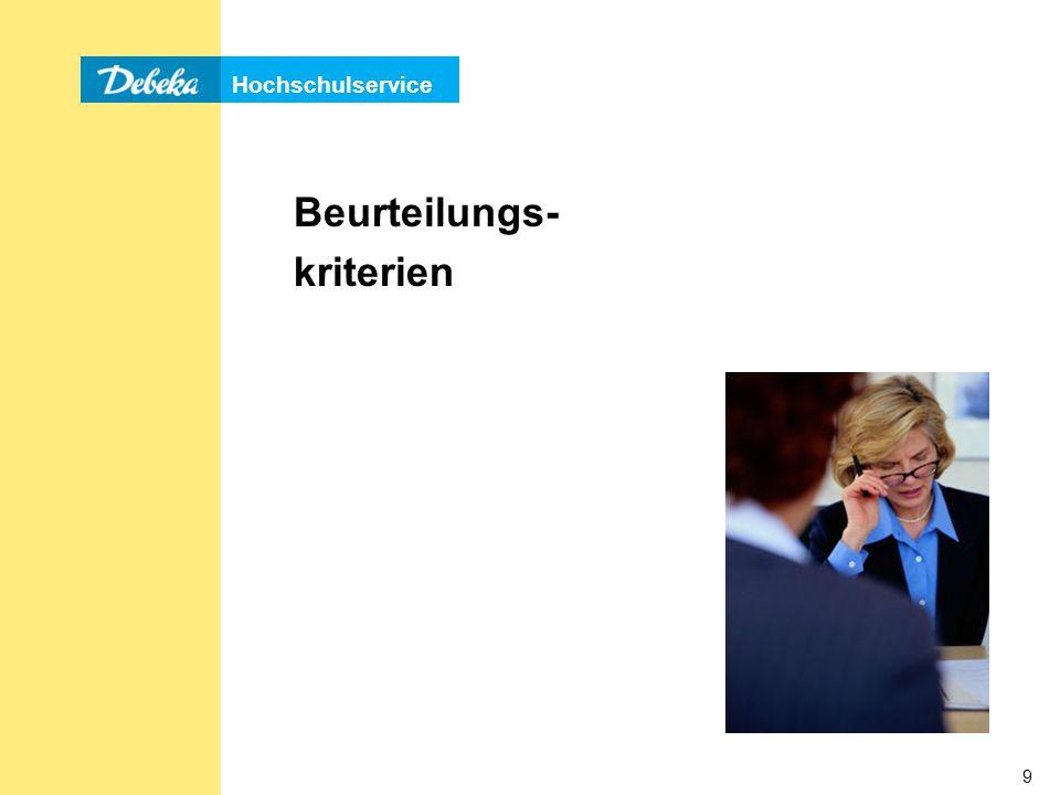 Hochschulservice 80 (Stress-) Interview Mögliche Fragen: »Was spricht gegen Sie als Kandidat/in.