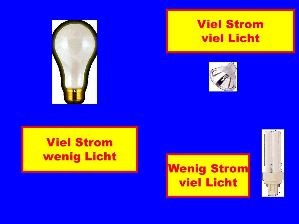 Viel Strom wenig Licht Viel Strom viel Licht Wenig Strom viel Licht