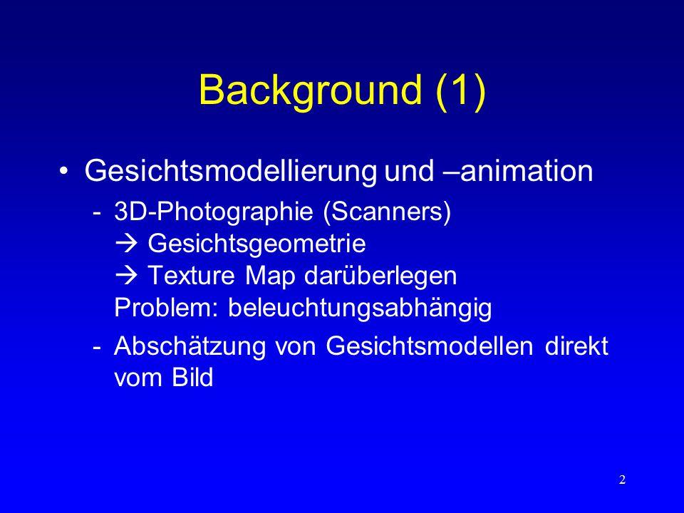 """3 Background (2) Reflektometrie –Messungen, wie Materialien Licht reflektieren –BRDF –Reflexionsmodelle (BRDFs als Parameterfunktionen) –Modelle für geschichtete Oberflächen  """"subsurface scattering –Reflexionsabschätzungen mit Bildern"""