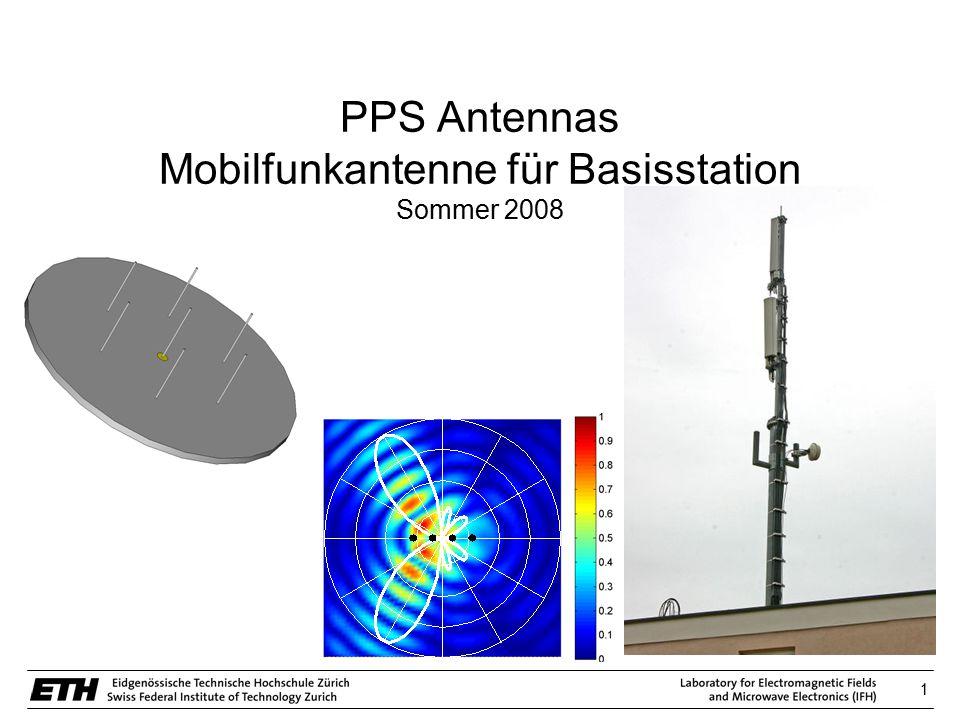 12 AntennasSimulationVersuchsaufbauAblaufInfos Fernfeldberechnung – Anpassung Simulation
