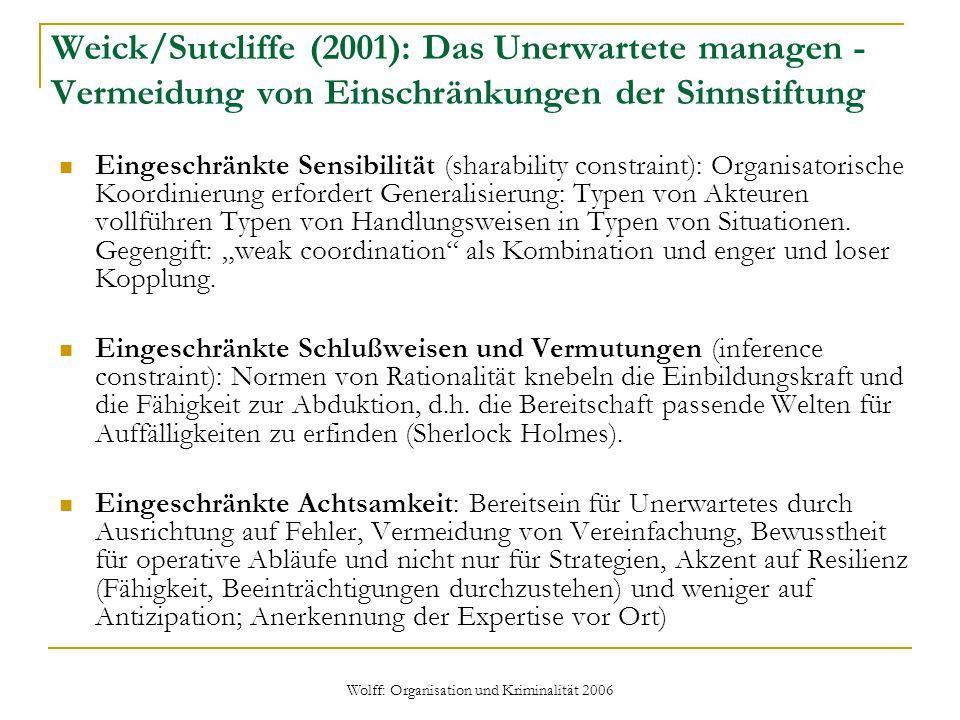 Weick/Sutcliffe (2001): Das Unerwartete managen - Vermeidung von Einschränkungen der Sinnstiftung Eingeschränkte Sensibilität (sharability constraint)