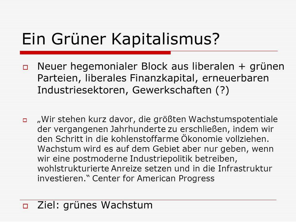 Ein Grüner Kapitalismus.
