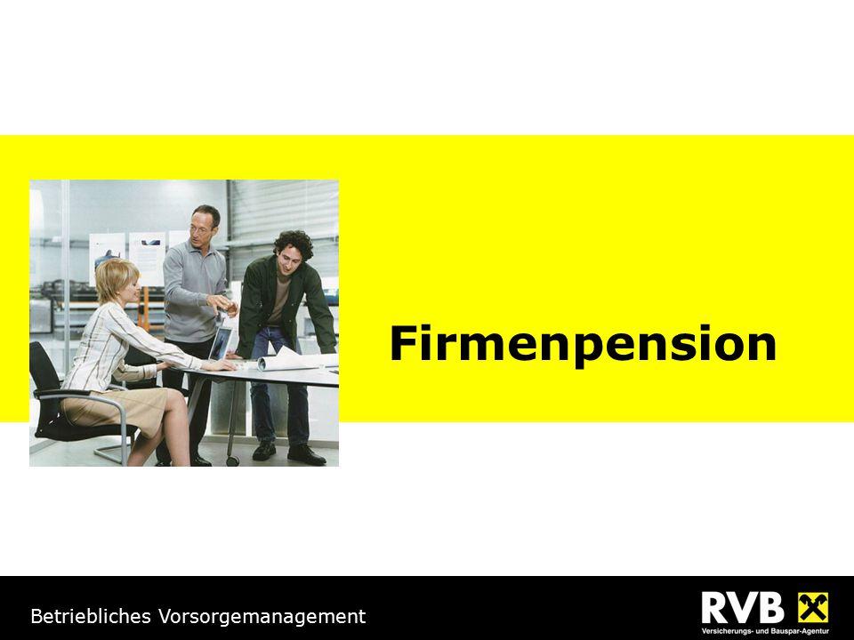 Betriebliches Vorsorgemanagement Firmenpension