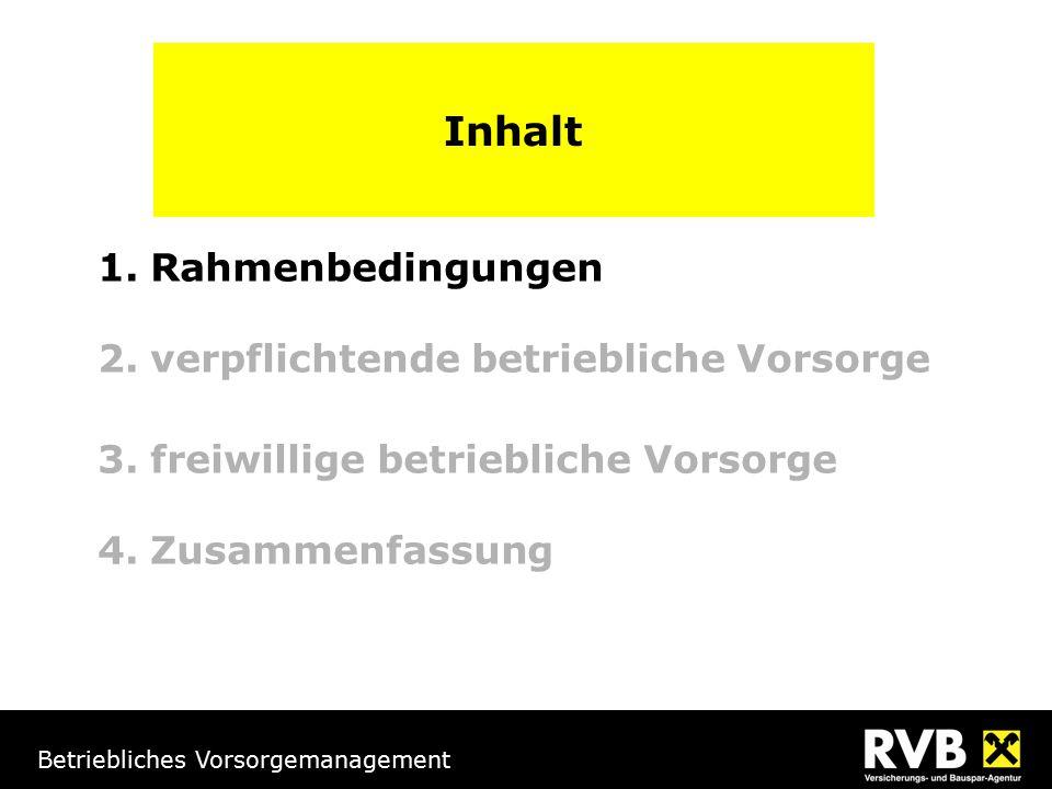 Betriebliches Vorsorgemanagement Lebenszyklus der Österreicher