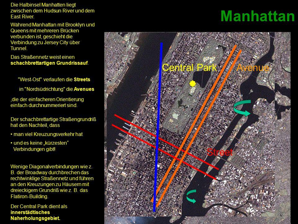 Manhattan Bronx Brooklyn Queens Staten Island Jersey City Stadtviertel