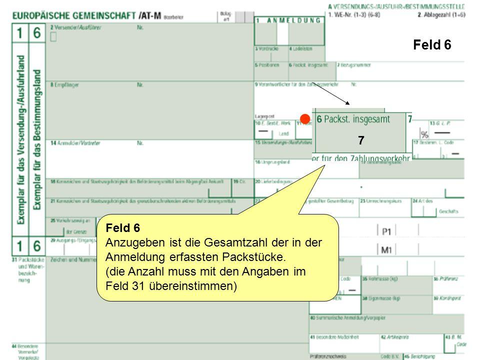 """Feld 29 und 30 Feld 29 Anzugeben ist beim Ausgang der Waren über:  Österreich, der für Österreich vorgesehen Ländercode """"AT und die Zollstelle über die die Sendung ausgeführt wird, also: """"ACT-ZA (= ACT Zollamt) [  einen anderen Mitgliedstaat der EU, der Mitgliedstaat in codierter Form, über den die Ware das Zollgebiet der Gemeinschaft verlassen soll."""