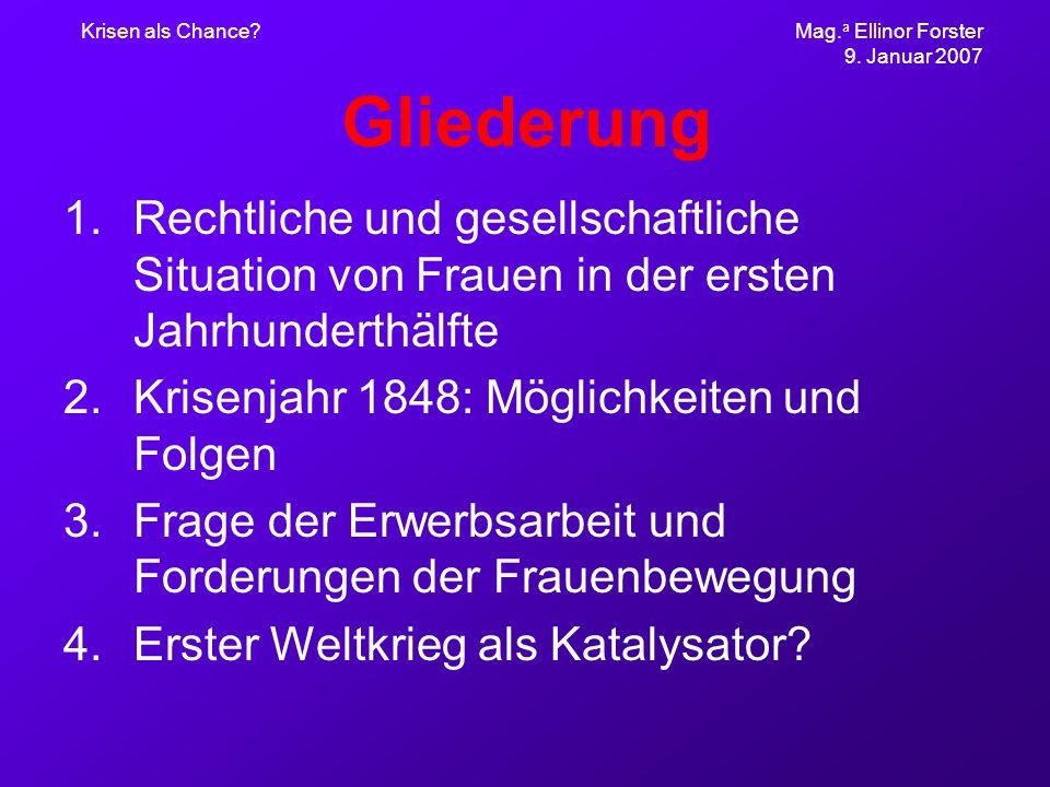 Krisen als Chance. Mag. a Ellinor Forster 9.