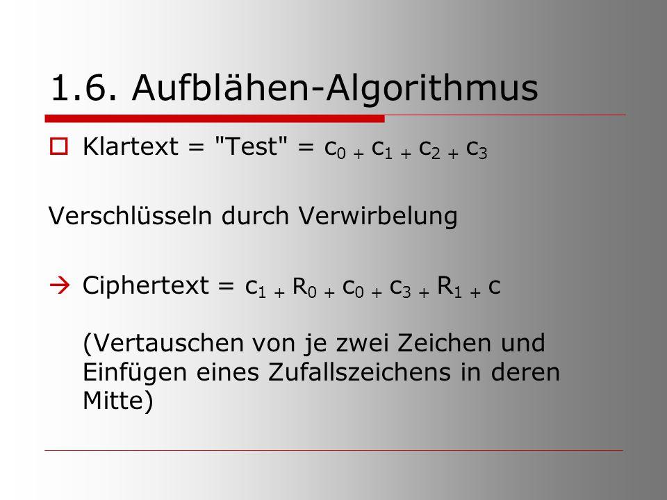 1.6. Aufblähen-Algorithmus  Klartext =