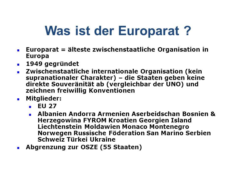 Was ist der Europarat .