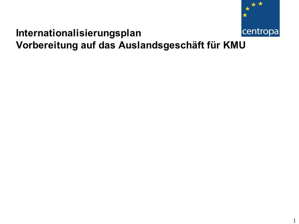 1 Internationalisierungsplan Vorbereitung auf das Auslandsgeschäft für KMU