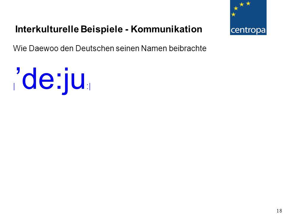 18 Wie Daewoo den Deutschen seinen Namen beibrachte | 'de:ju :| Interkulturelle Beispiele - Kommunikation