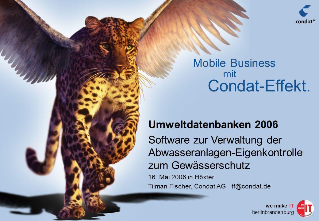 Condat AG, Berlin 200632 Integrationsfähigkeit EclipseRCP EclipseRCP  Plugin-Konzept nach OSGi-Standard  Open Services Gateway Initiative, gegründet 1999, 44 Firmen  Alle von Java unterstützten Standards einsetzbar  Plug-ins für  Business Process Management (BPM, BPEL)  Enterprise Application Integration (EAI)  Workflow-Management (WFMS)