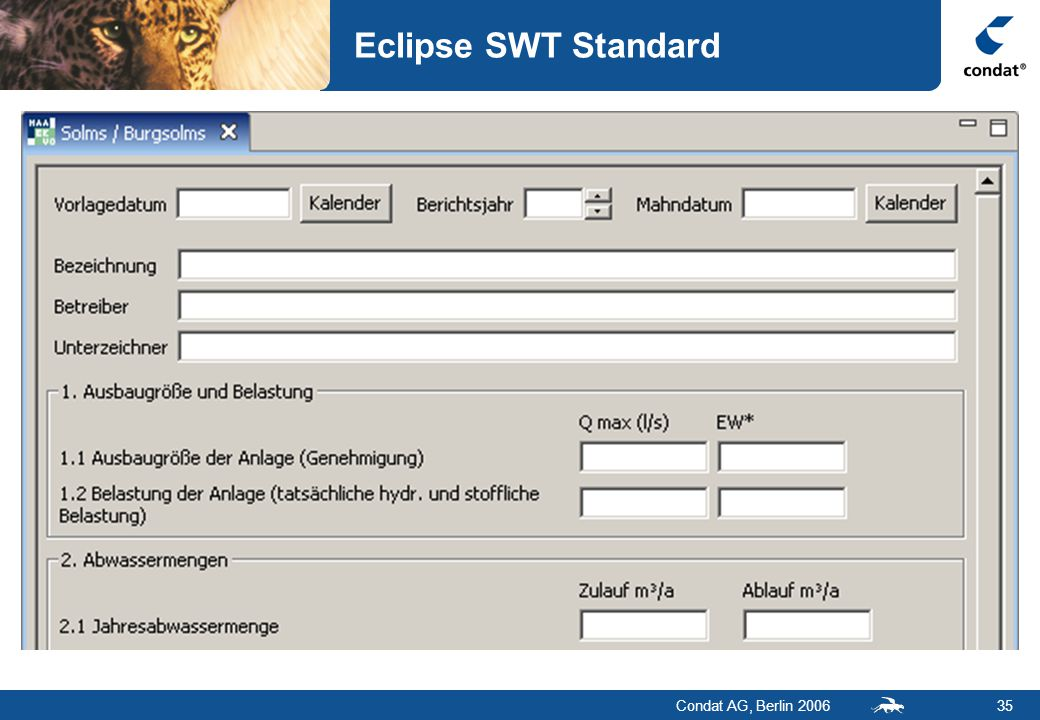 Condat AG, Berlin 200635 Eclipse SWT Standard