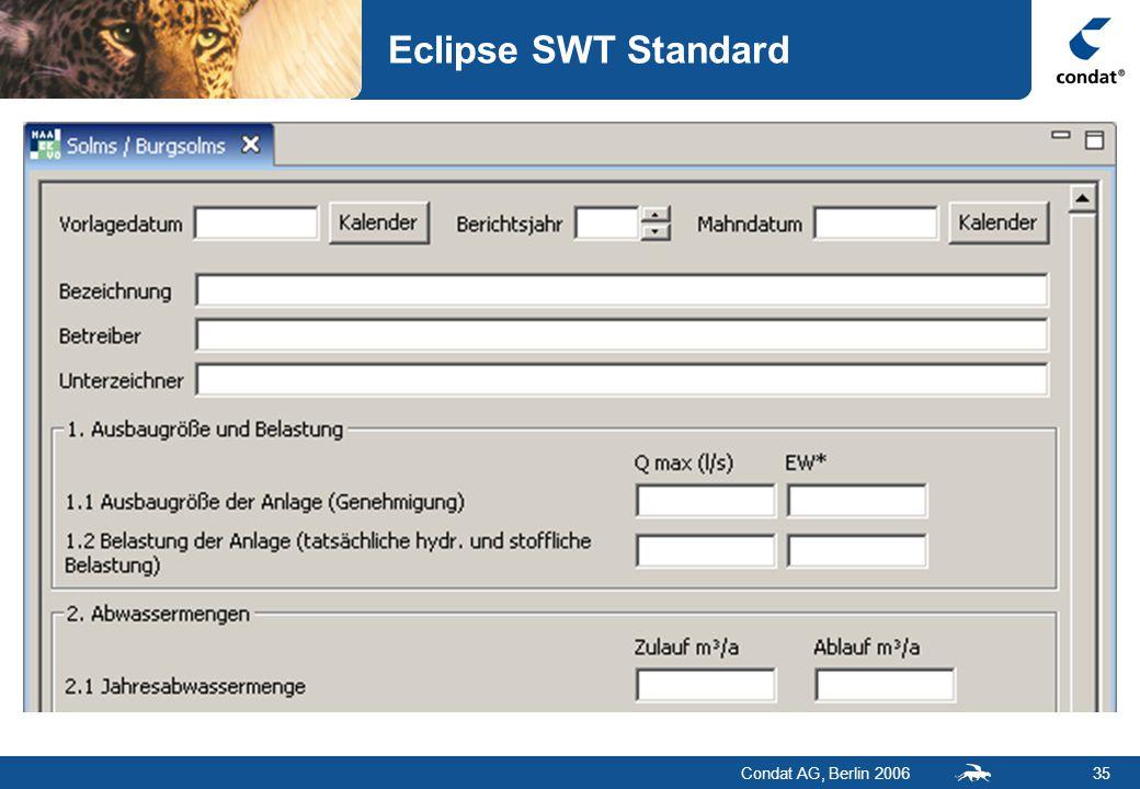 Condat AG, Berlin 200635 Eclipse SWT Standard