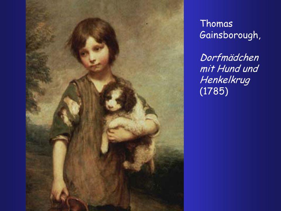 Thomas Gainsborough, Dorfmädchen mit Hund und Henkelkrug (1785)