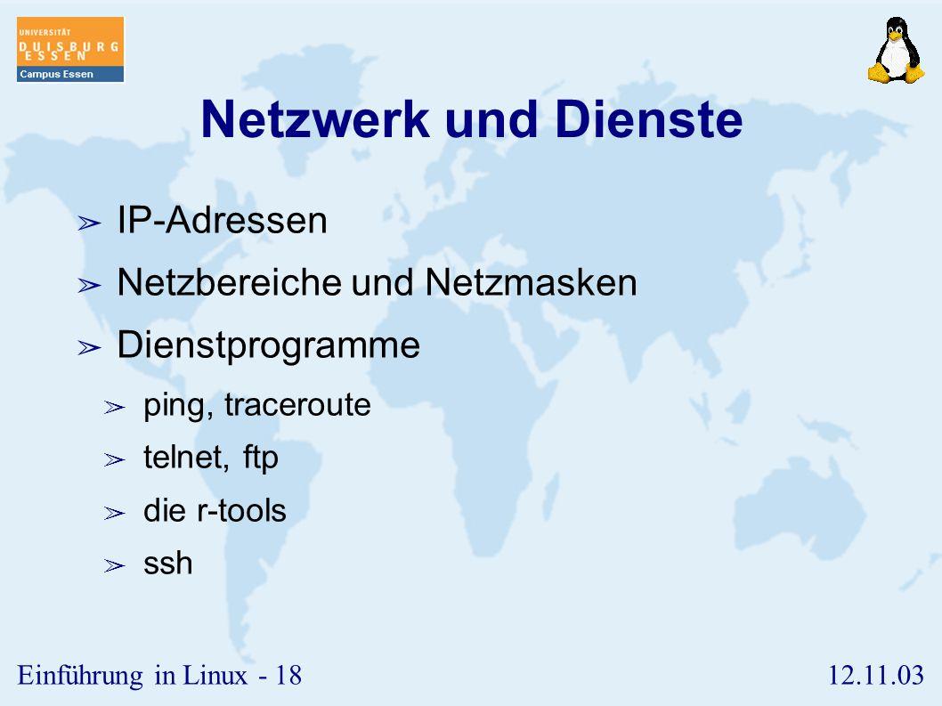 12.11.03Einführung in Linux - 17 Installation SuSE 8.1