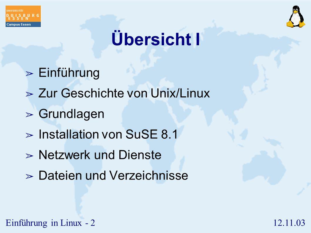 12.11.03Einführung in Linux - 82 Die Shell-Umgebung ➢ Variablen ➢ Sondervariablen ➢ Maskierung ➢ Kommandoersetzung ➢ Die Prologdatei.profile