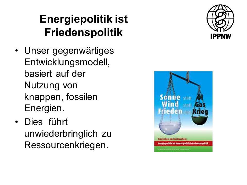 Unser gegenwärtiges Entwicklungsmodell, basiert auf der Nutzung von knappen, fossilen Energien.