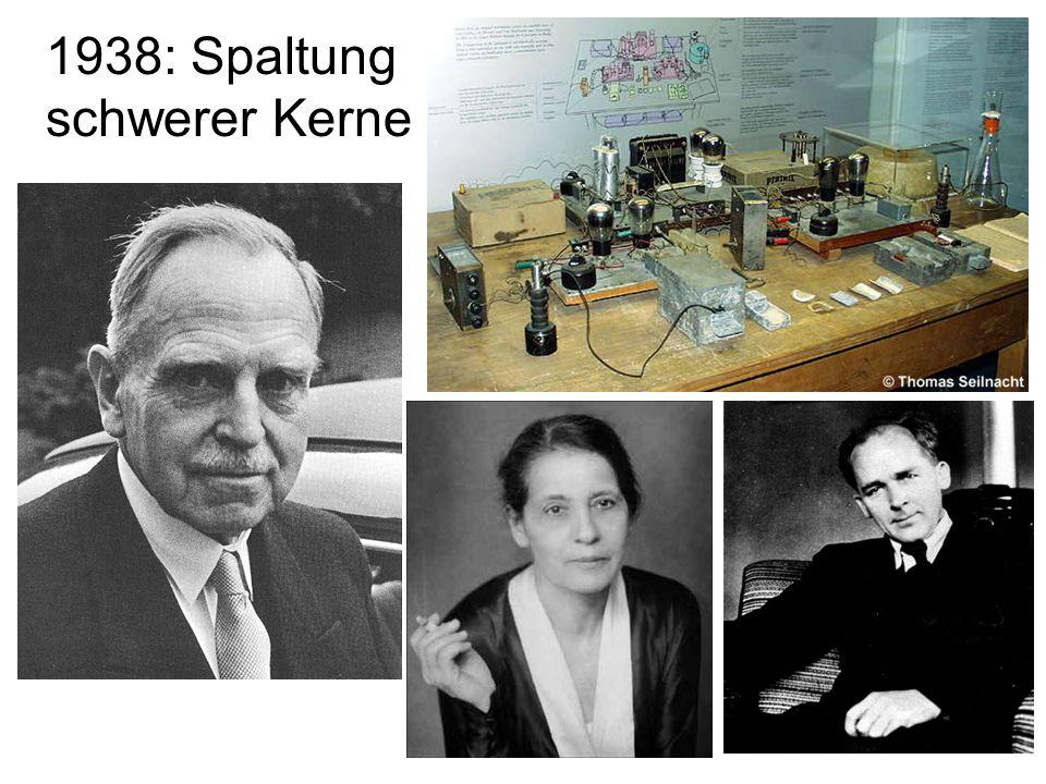 18 1938: Spaltung schwerer Kerne