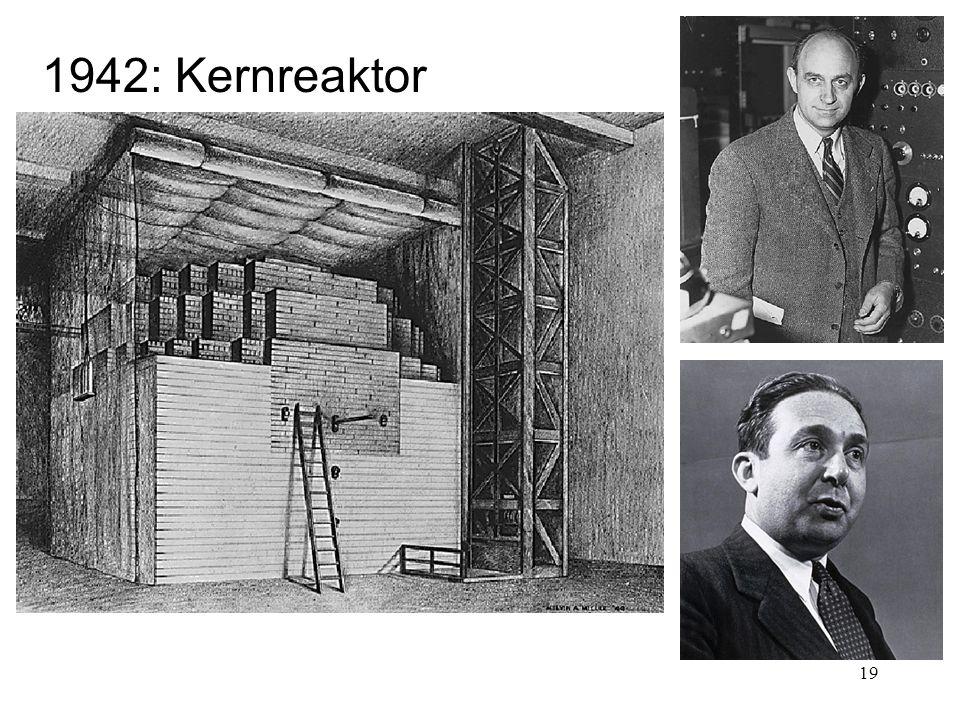 19 1942: Kernreaktor