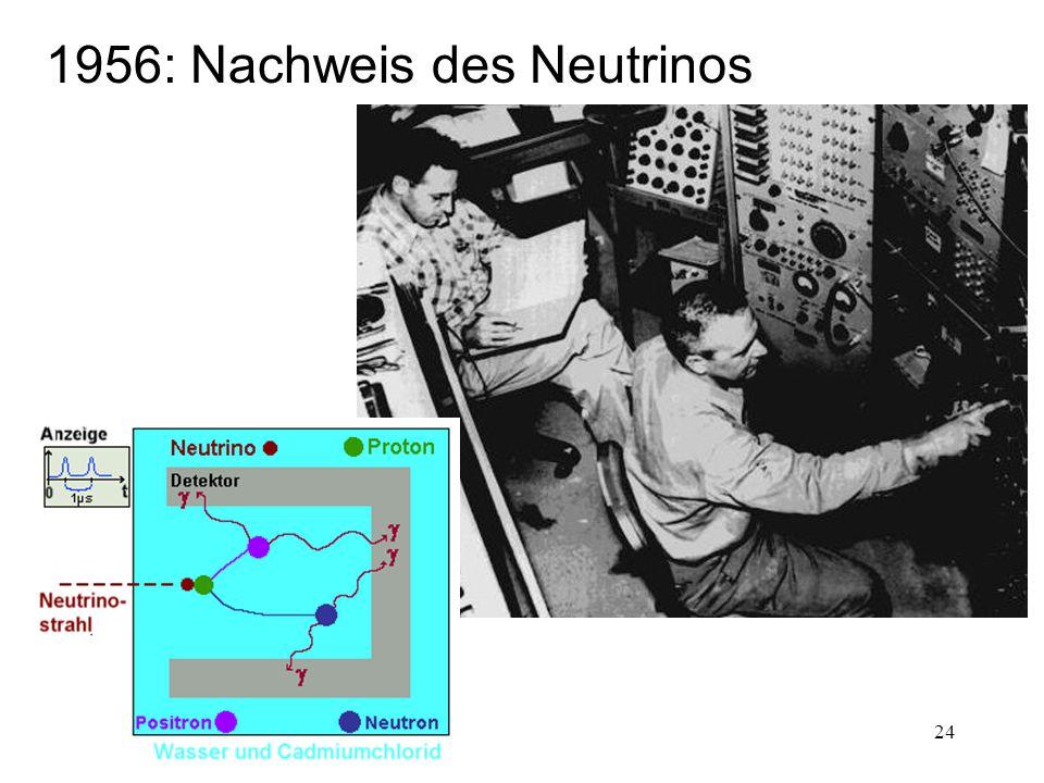 24 1956: Nachweis des Neutrinos
