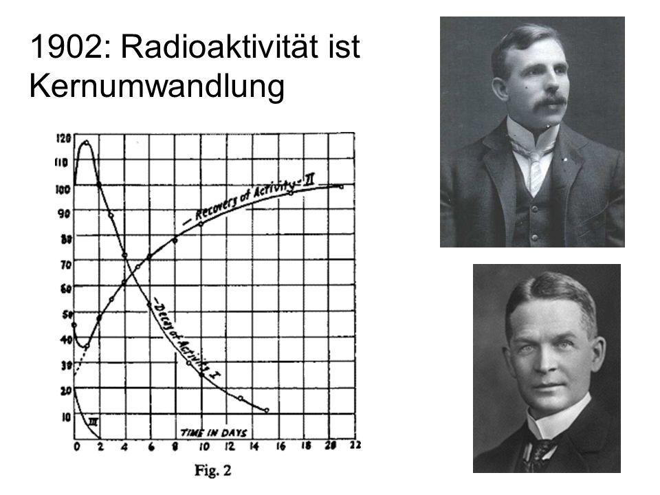 5 1908: Helium Atome sind  -Teilchen die ihre positive Ladung verloren haben