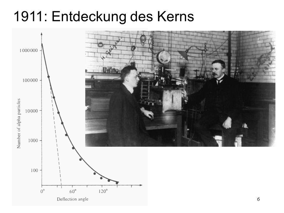 7 1919: Künstliche Kernumwandlung