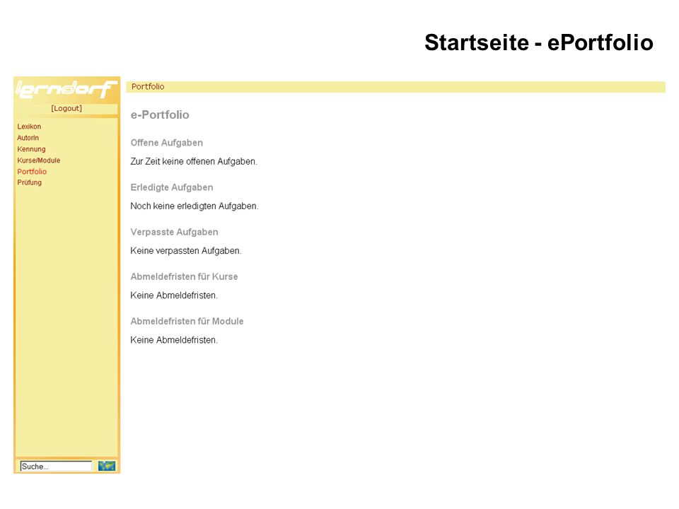 Startseite - ePortfolio