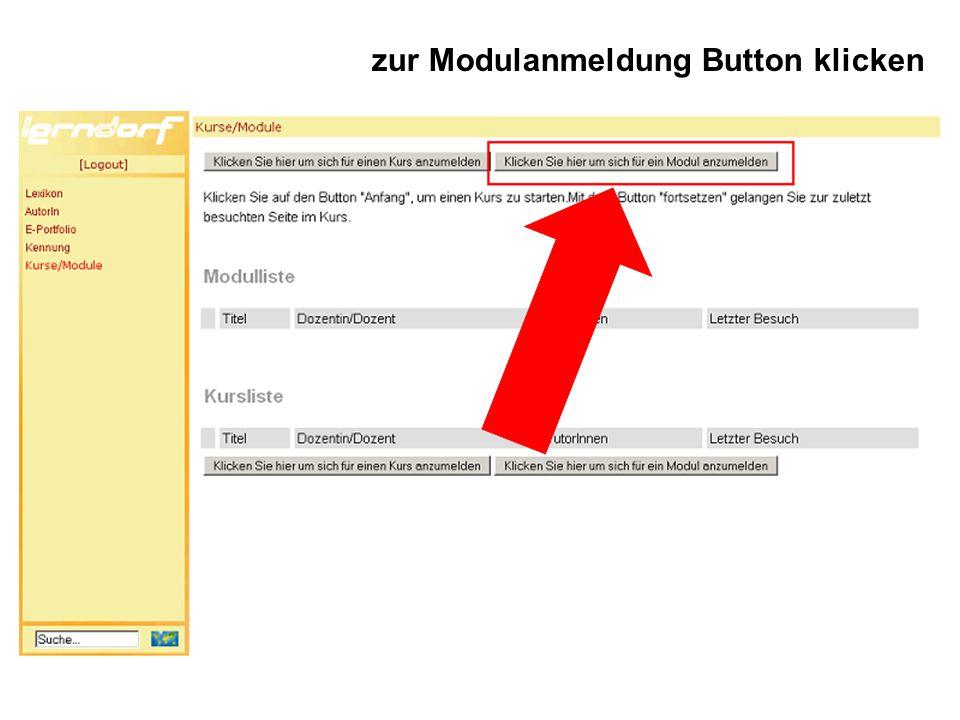 zur Modulanmeldung Button klicken