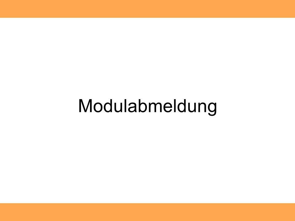 Modulabmeldung