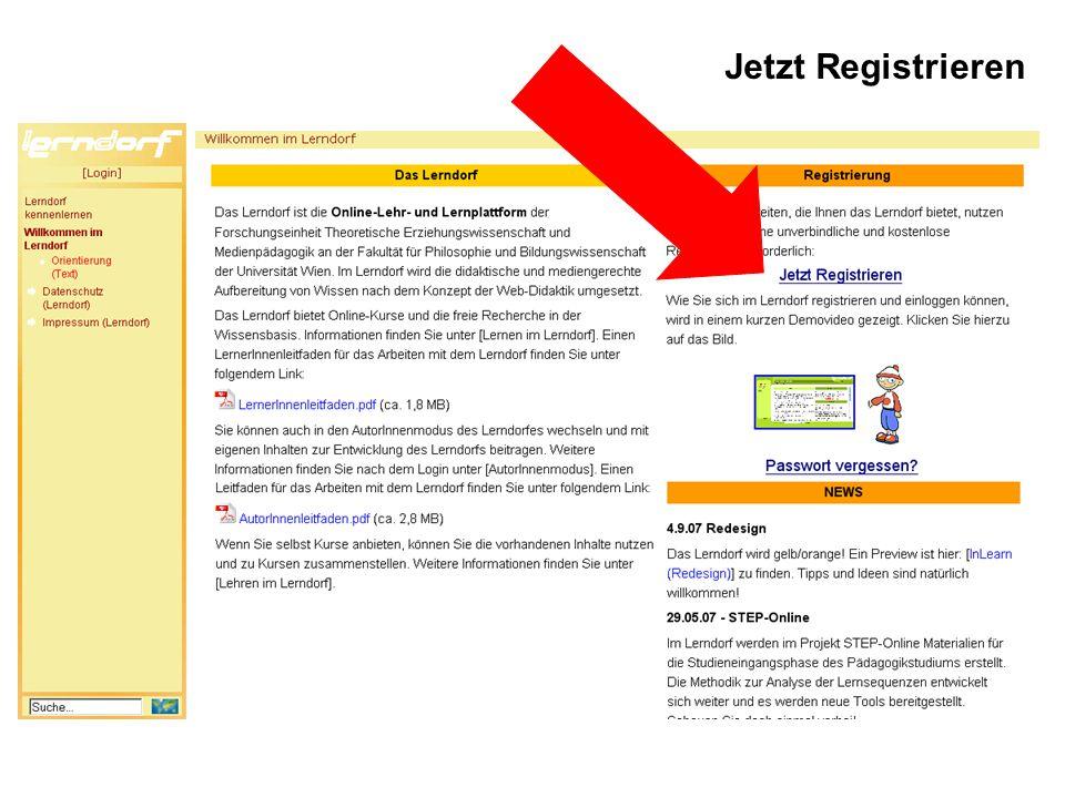 Jetzt Registrieren