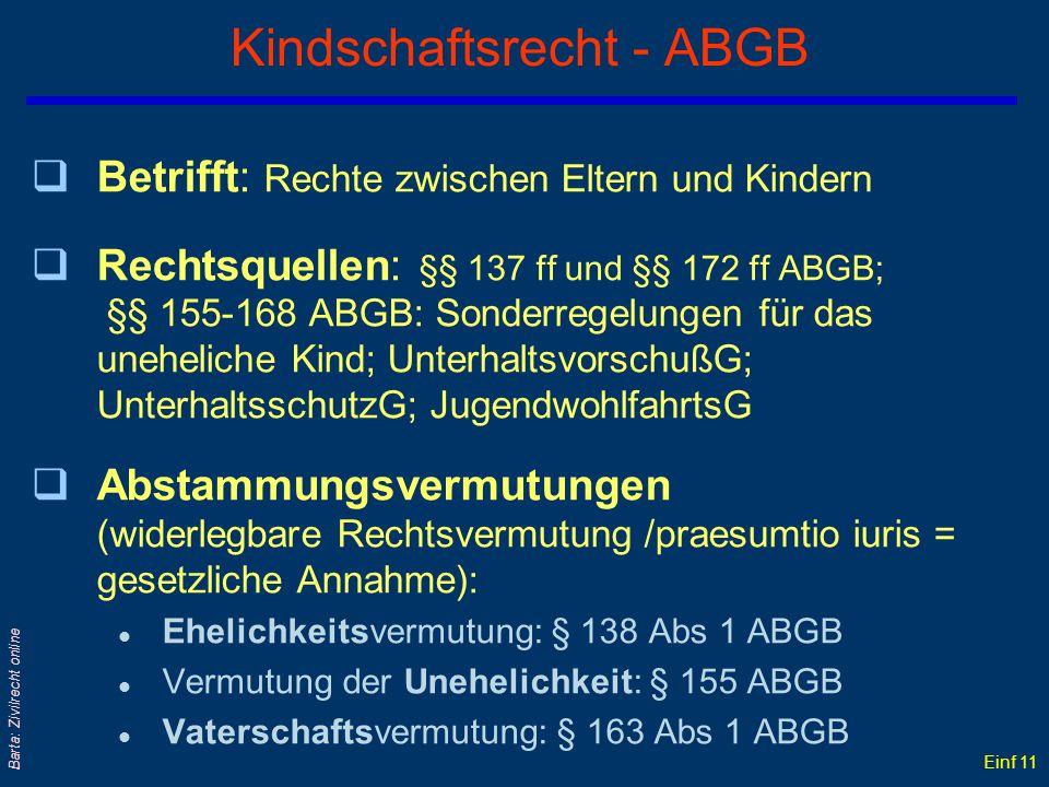 Einf 10 Barta: Zivilrecht online Legitimation qLegitimation unehelicher Kinder durch: nachfolgende Ehe: § 161 ABGB oder Begünstigung des Bundespräside