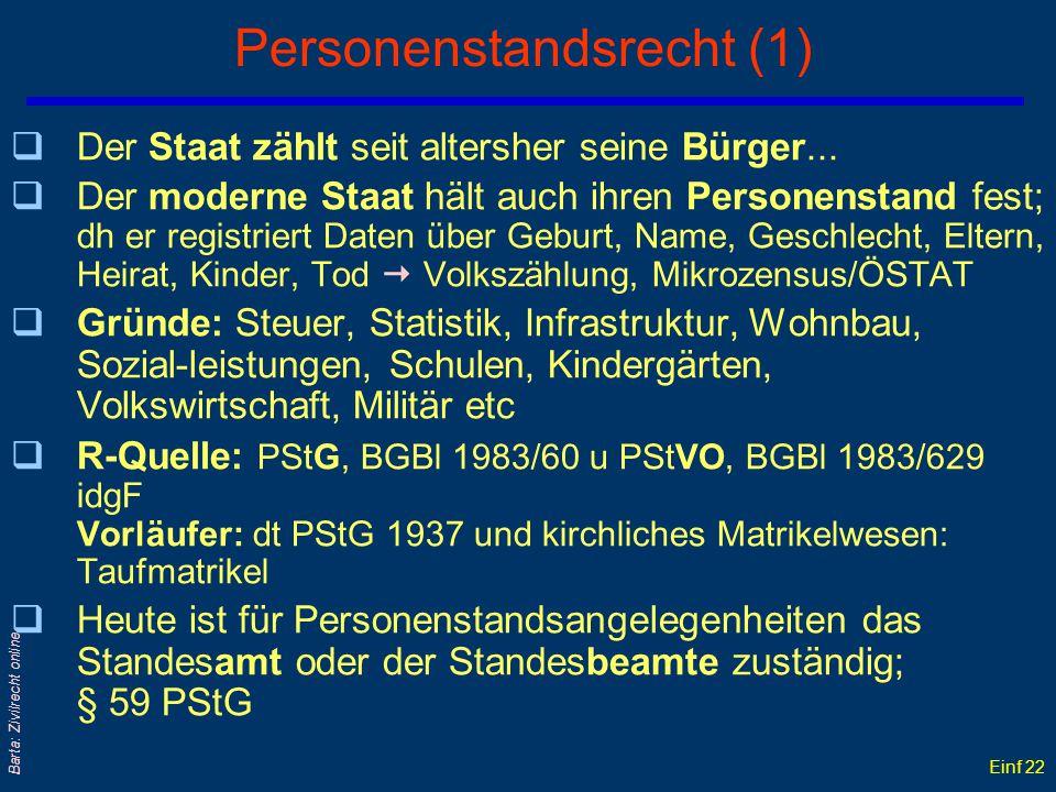 Einf 21 Barta: Zivilrecht online... ist die Einantwortung; § 797 ABGB = gerichtliche Einweisung in die Erbschaft: bewirkt die Übergabe in den rechtlic