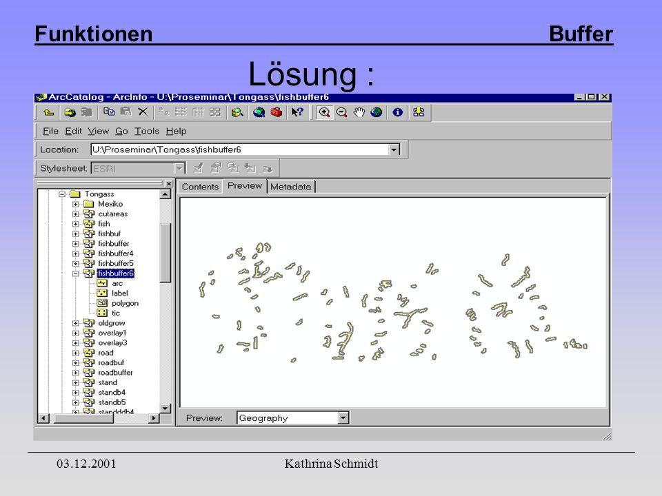 Funktionen Buffer 03.12.2001Kathrina Schmidt Lösung :