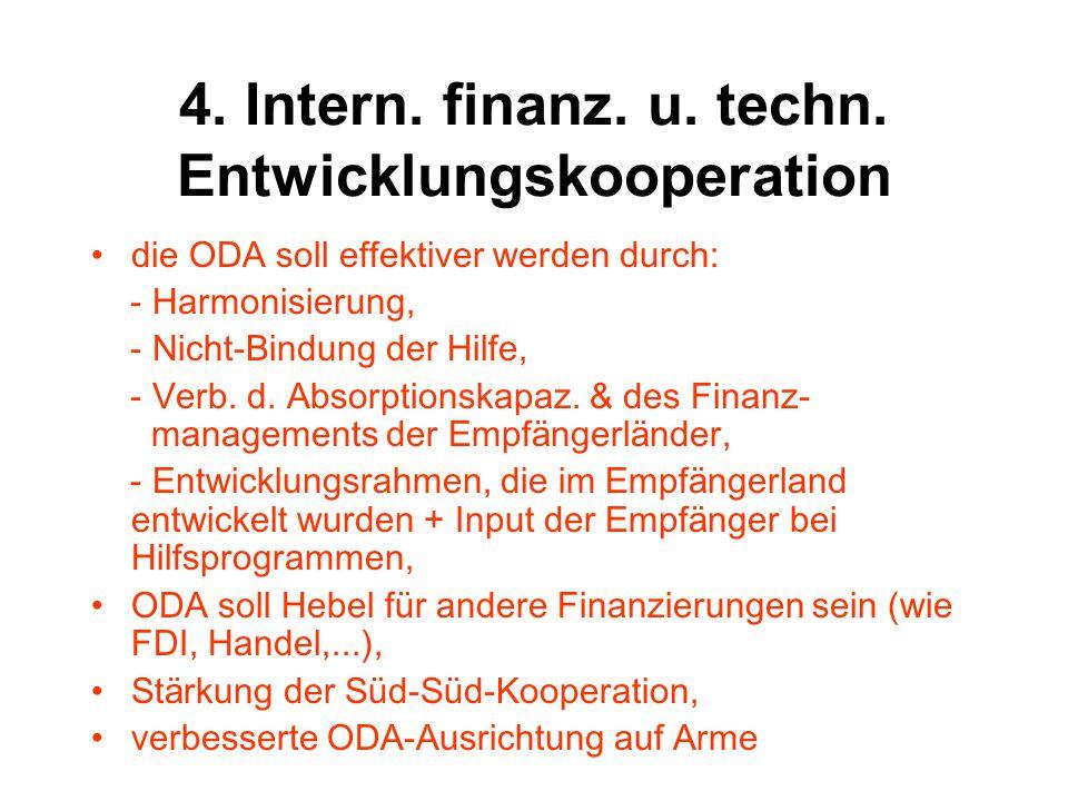 4.Intern. finanz. u. techn. EnK.: ODA-Leistungen – USA Auswahl d.