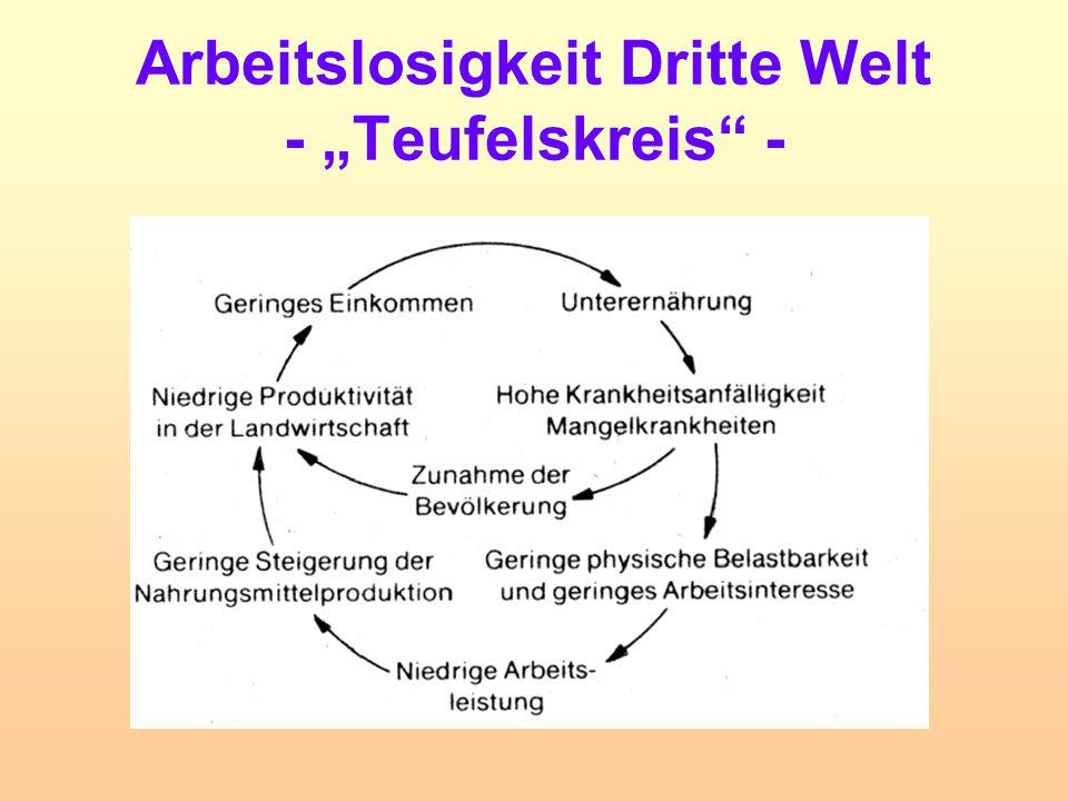 """Arbeitslosigkeit Dritte Welt - """"Teufelskreis"""" -"""