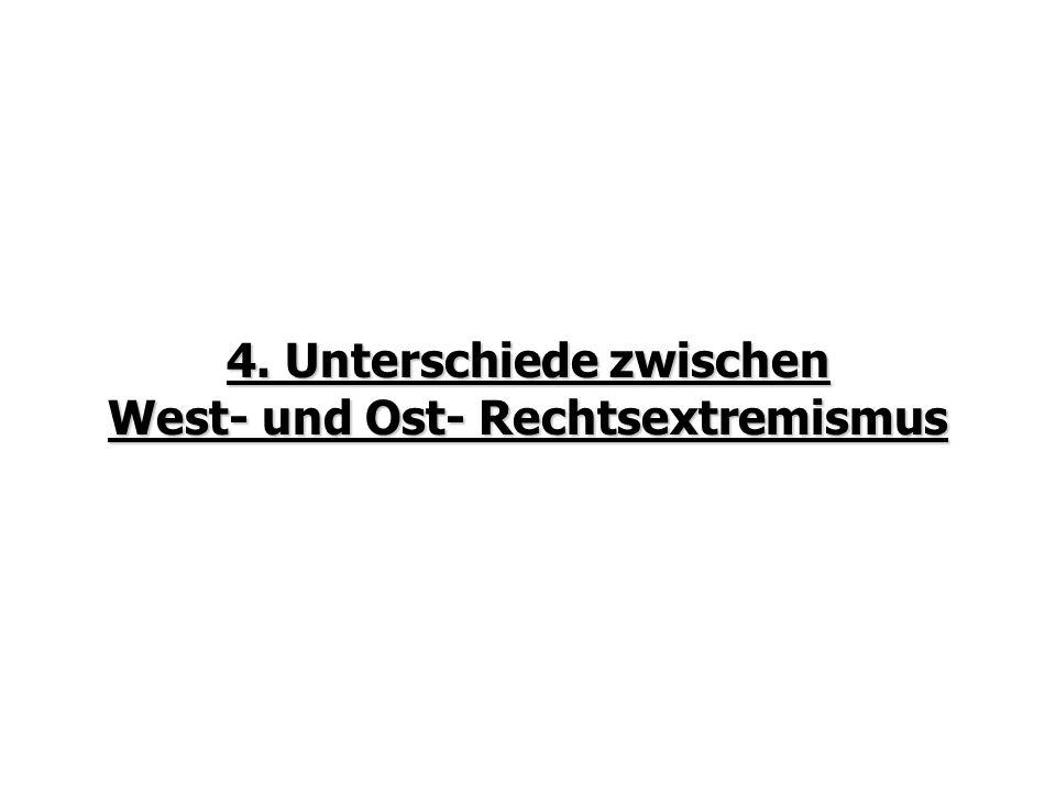 4. Unterschiede zwischen West- und Ost- Rechtsextremismus