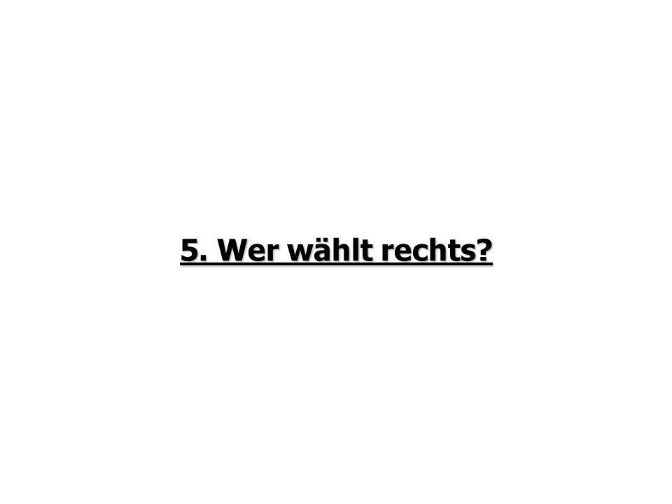 5. Wer wählt rechts?
