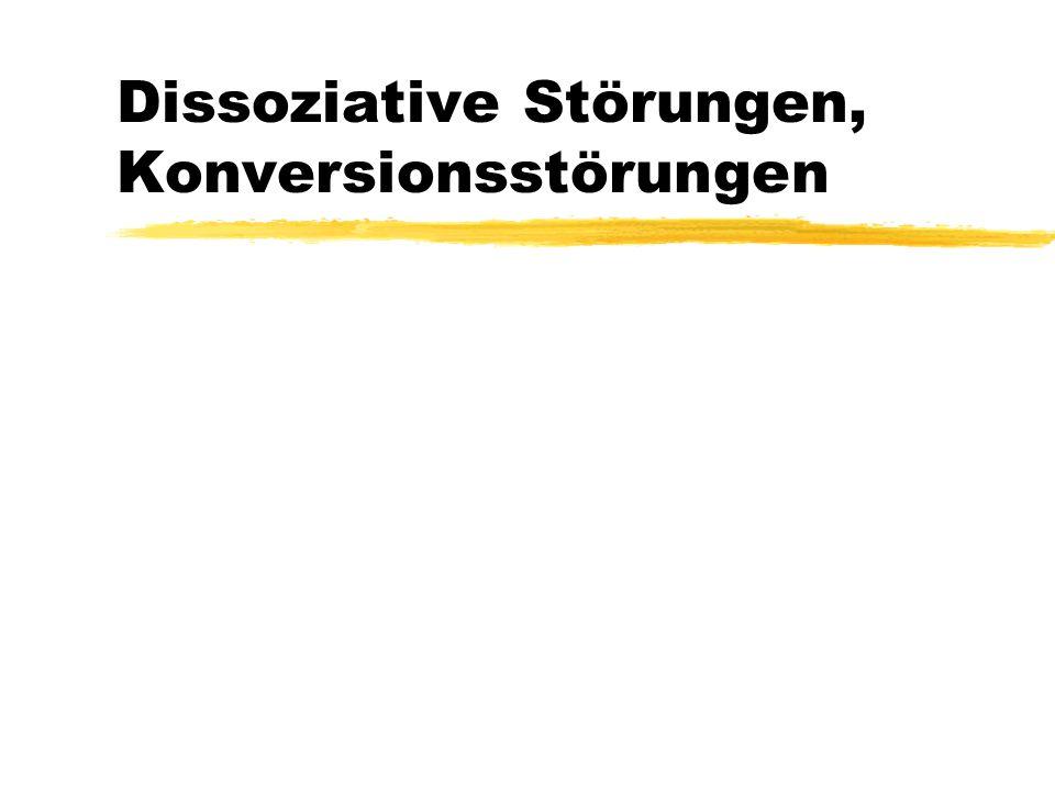 Dissoziative Störungen, Konversionsstörungen