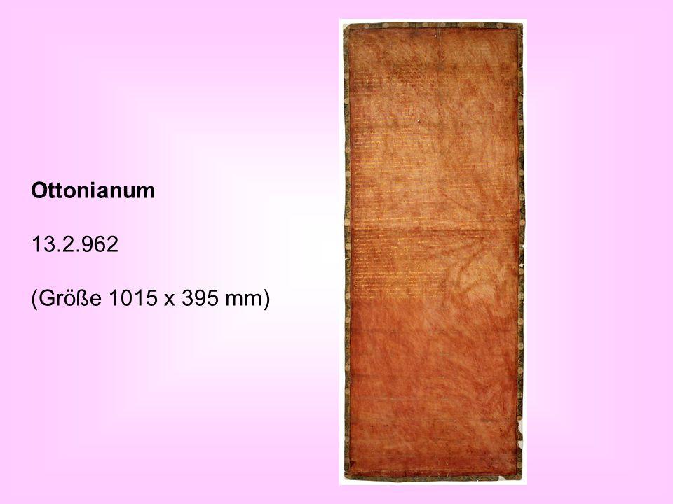 Ottonianum 13.2.962 (Größe 1015 x 395 mm)