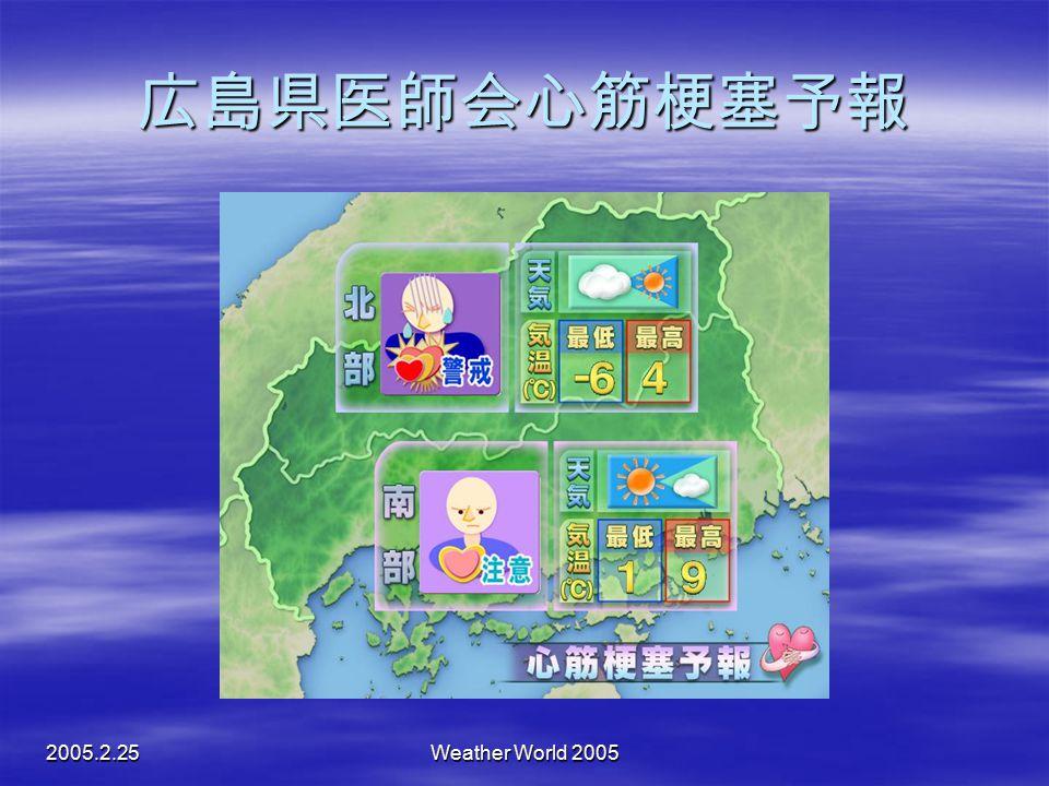 2005.2.25Weather World 2005 広島県医師会心筋梗塞予報