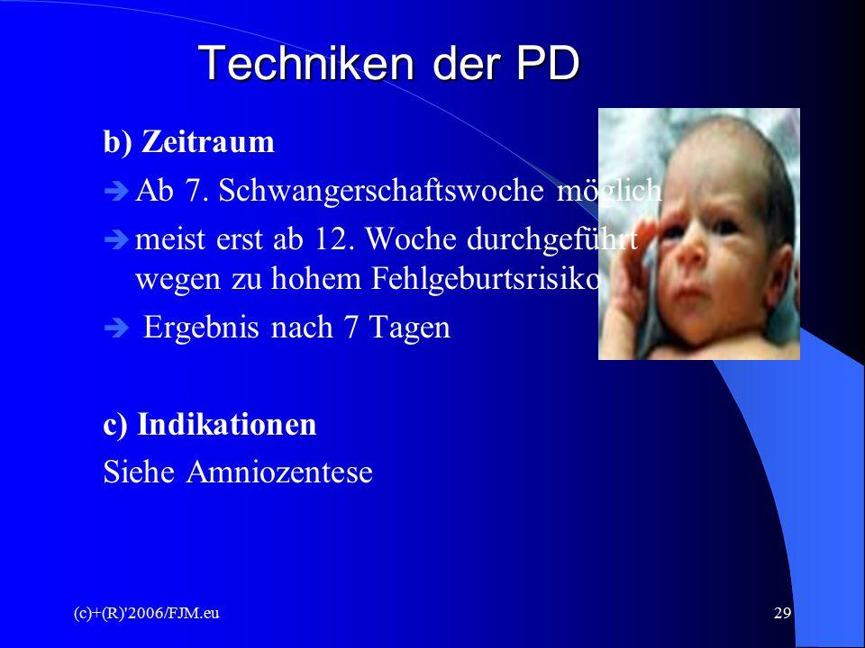 (c)+(R)'2006/FJM.eu28 Techniken der PD 3. Chorionzottenbiopsie  transzervikaler Eingriff mit Katheter (Scheide  Plazenta  Gewebeprobe) transabdomin