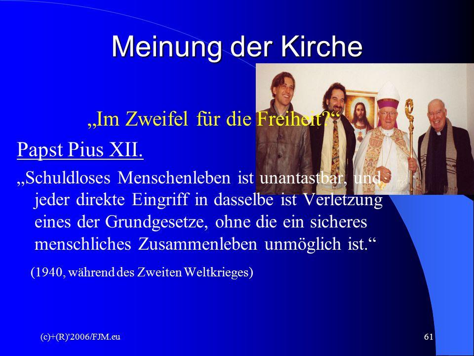 (c)+(R) 2006/FJM.eu60 Pflichten des Arztes ( Der Schutz des Selbstbestimmungsrechts der Frau bei der Betreuung nach Mutterschaftsrichtlinien des Bundesausschusses der Ärzte und Krankenkassen von Herrn Professor Dr.