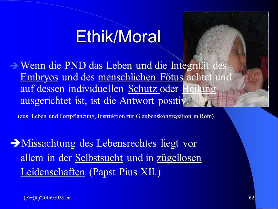 """(c)+(R)'2006/FJM.eu61 Meinung der Kirche """"Im Zweifel für die Freiheit?"""" Papst Pius XII. """"Schuldloses Menschenleben ist unantastbar, und jeder direkte"""