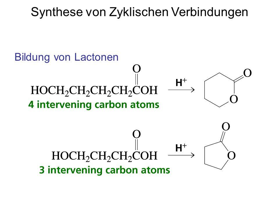 Synthese von Zyklischen Verbindungen Bildung von Lactonen