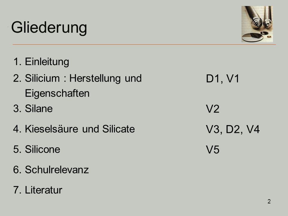 13 Technische Darstellung (2) Wirbelschichtreaktor 0 +I +II 0 Destillation: Trichlorsilan siedet bei 31,8°C Abscheidung des Si durch H 2 -Verdampfung Tiegelziehverfahren / Zonenschmelzverfahren 2.