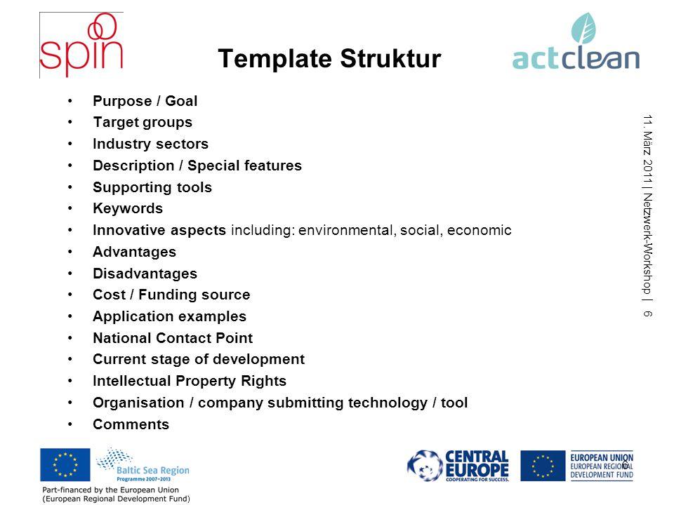 11.März 2011 | Netzwerk-Workshop | 7 Qualitätssicherung Quelle der Beispiele (z.B.