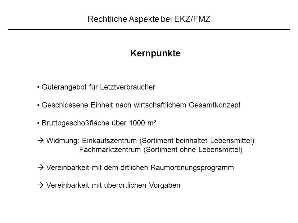 """Rechtliche Aspekte bei EKZ/FMZ """".."""