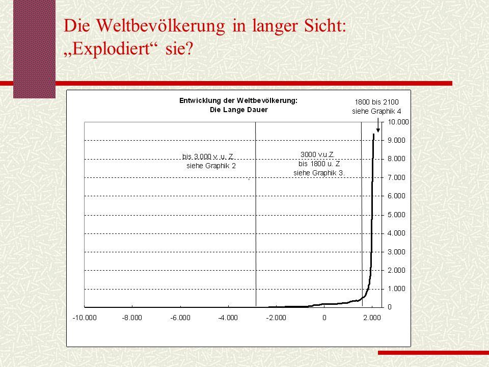 """Die Weltbevölkerung in langer Sicht: """"Explodiert sie"""